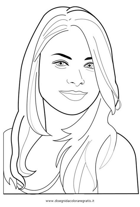Carly Von Icarly Disney Channel Girl Human Coloring Page Human Coloring Page
