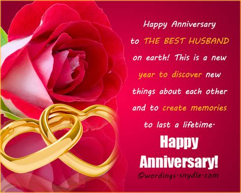 Wedding Anniversary Message by Wedding Anniversary Messages For Husband Wordings And
