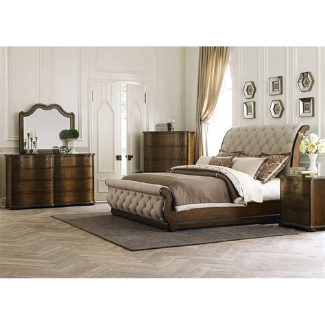 5 piece bedroom set king liberty furniture cotswold 5 piece upholstered king sleigh