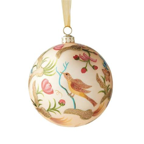 williamsburg 174 regency bird floral ornament christmas
