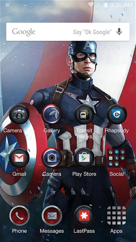 captain america samsung galaxy wallpaper the avengers theme any screen shots are welcome