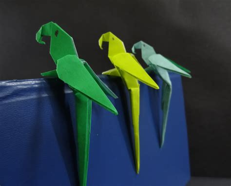 How To Make A Paper Parrot - origami bird tutorial on how to fold an origami paper
