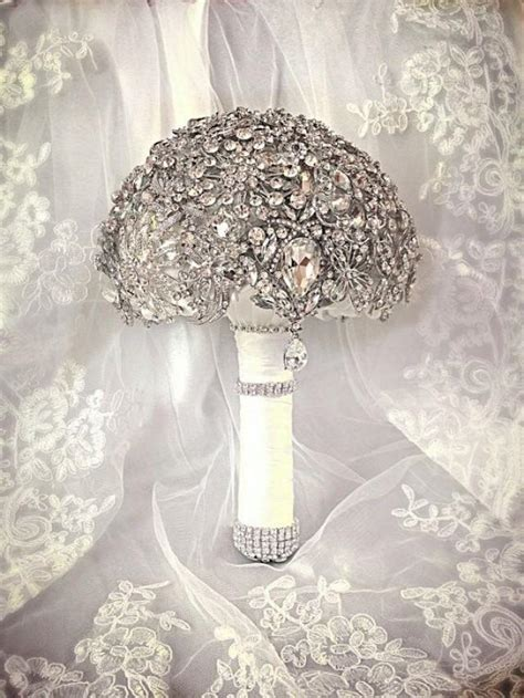 Wedding Bouquet Bling by Wedding Brooch Bouquet Deposit On Made To Order