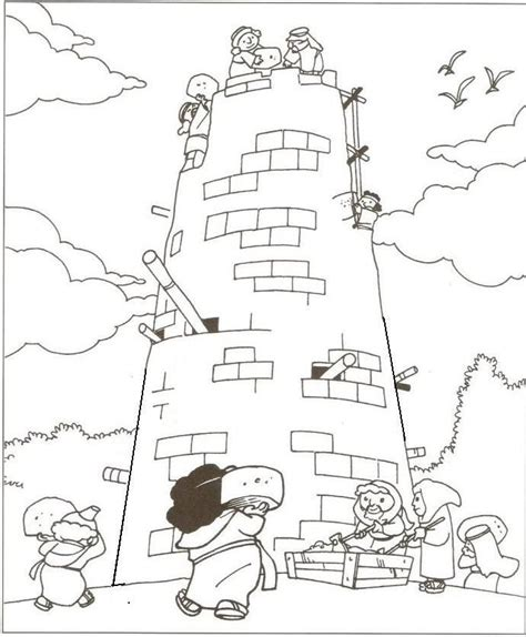 Tower Of Babel Coloring Pages 25 best ideas about tower of babel on bible