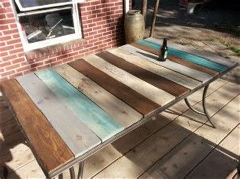 Top Table Fosil Kayu patio table top redo with pallet wood kindred crafty things table top redo