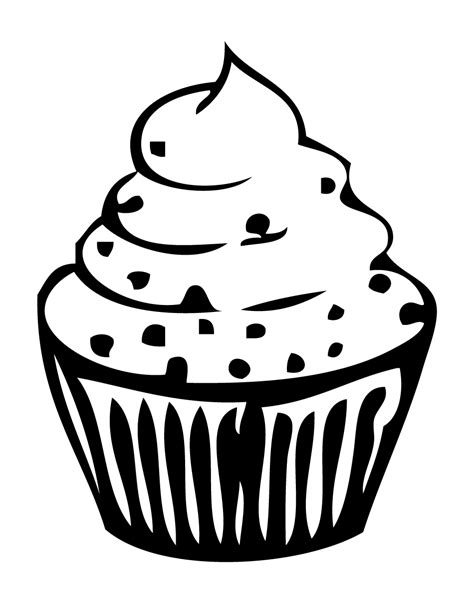large cupcake coloring page best cupcake outline 8263 clipartion com