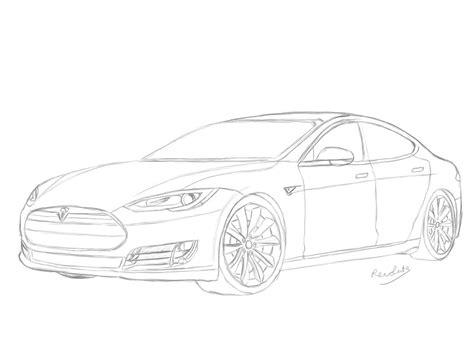Tesla Drawings Tesla Model S Drawing By Revolut3 On Deviantart