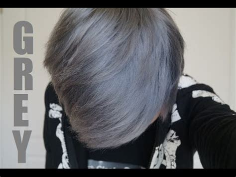 how to dye your hair silver/grey: the safe way youtube