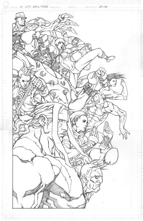 ghost fighter coloring pages street fighter 25th anniversary tribute pencils by ngboy