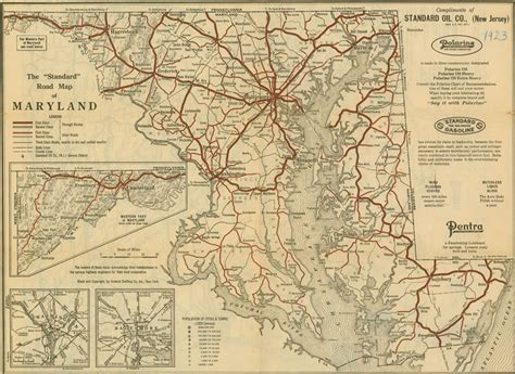 maryland map detailed the quot standard quot road map of maryland