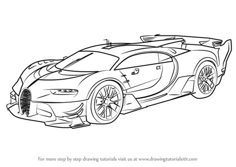 bugatti drawing learn how to draw bugatti vision gran turismo concept