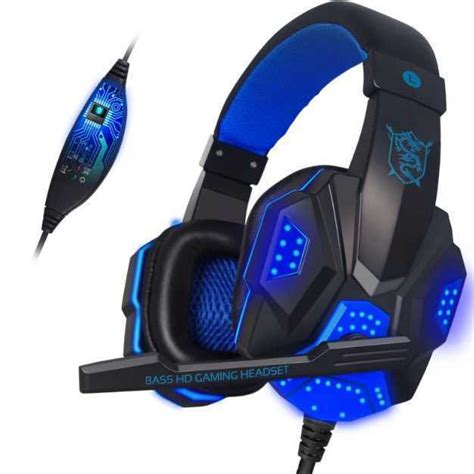 Headset Gaming Led gaming headset led light ps4 xbox pc headsets mics accessories new gameflip
