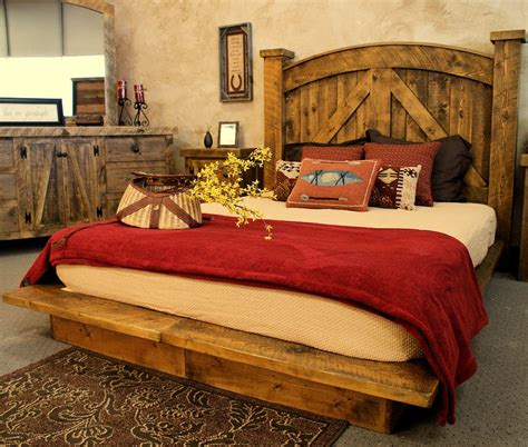 western bedroom furniture barnwood furniture adds west style to the bedroom