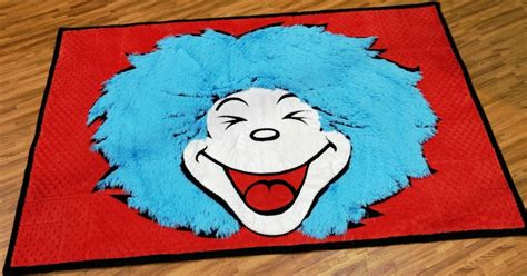 Dr Seuss Area Rug by Thing 1 Rug The Cat In The Hat Cuddle Room Intl Quilt
