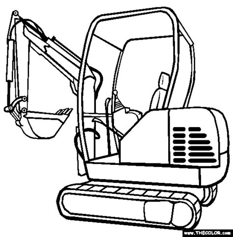 mini excavator coloring pages trucks online coloring pages page 1