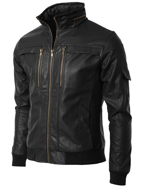 Handmade Leather Jacket - handmade custom new zip encirlcled collar leather