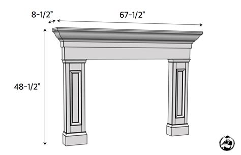 Fireplace Mantel Plans Free by Faux Fireplace Mantel Surround 187 Rogue Engineer