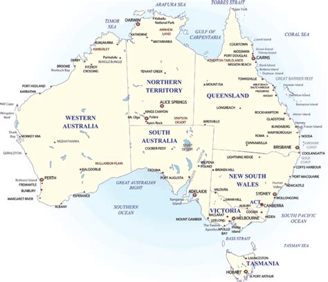 major cities in australia map cities in australia map