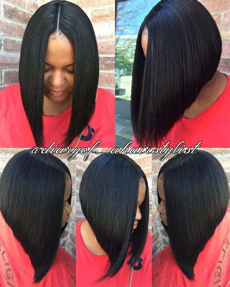 invisible part quick weave short styles invisible part quick weave bob razored to perfection