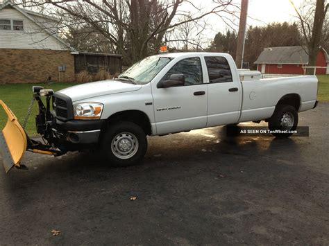 snow plow for dodge ram 2500 2006 dodge ram 2500 4x4 w meyer snowplow