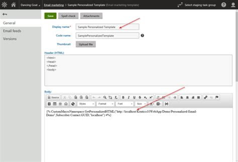 kentico email template personalizing a page based email in kentico