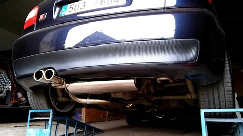 Auspuff Audi A3 8l by Audi A3 8l 1 8t Stainless Steel Exhaust Sound Youtube