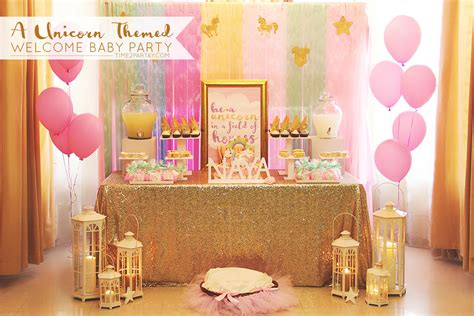 party themes baby a unicorn themed welcome baby party time2partay com