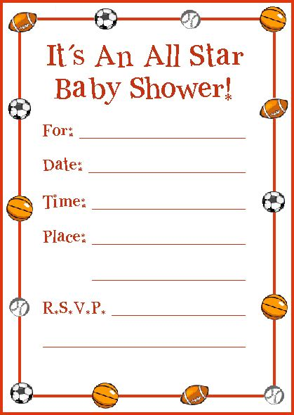 Throw A Sports Baby Shower Theme Party Basketball Baby Shower Invitation Templates