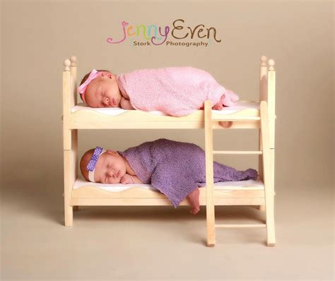 boy and girl bunk beds newborn twins small whimsical boy or girl photography prop