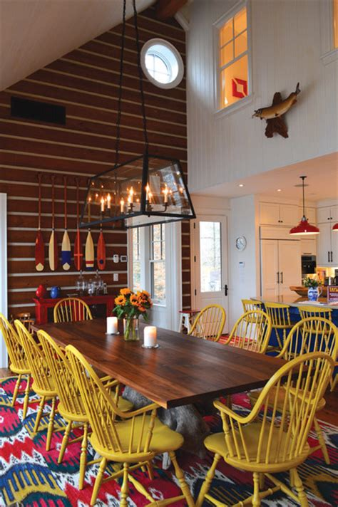 funky dining room ideas small funky cottage rustic dining room toronto by david gillett design