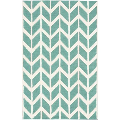 Zig Zag Area Rug Ecarpet Gallery Zig Zag Teal 5 Ft X 8 Ft Area Rug 181251 The Home Depot