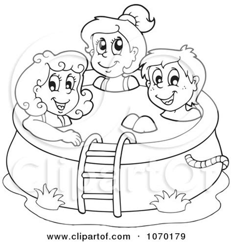 big pool party coloring page coloring pages