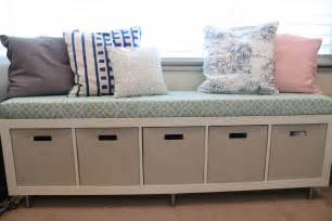 vignettes ikea window bench storage containers