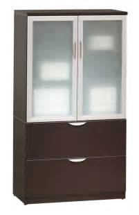 classic glass door storage cabinet lateral file combo