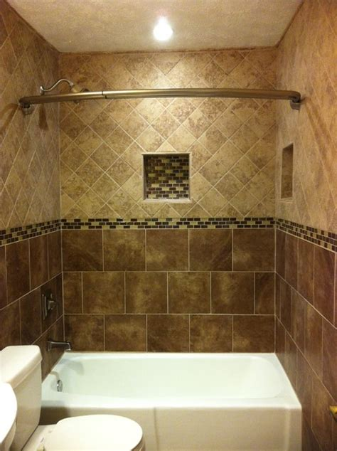 floor to ceiling tile bath traditional bathroom