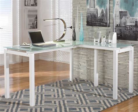 glass top l shaped desk buy modern white l shape desk in chicago