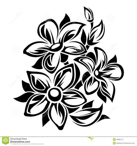 Line Maxy By Amaryllis bloemen zwart wit ornament vector illustratie vector