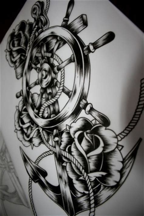 anchor and wheel tattoo designs 17 best images about tattoos on back tattoos