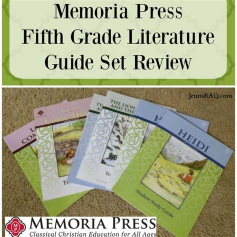 literature themes fifth grade memoria press fifth grade literature guide set review