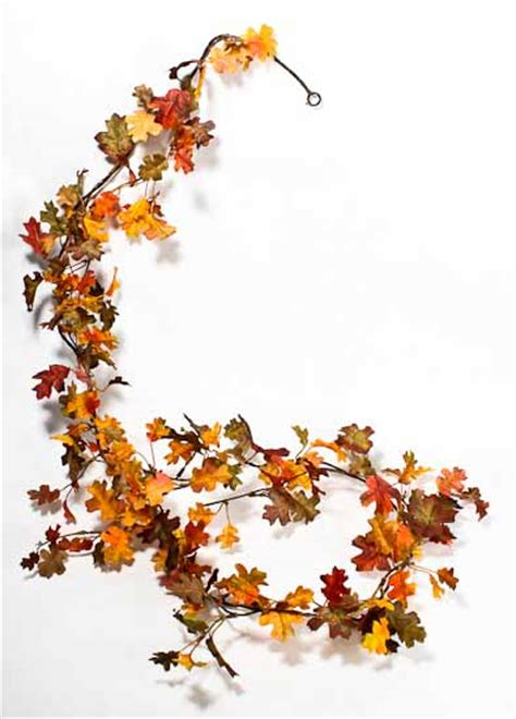 fall leaves garland printable miniature artificial oak leaf garland garlands floral