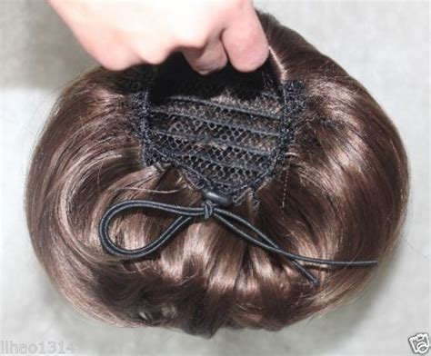 details  women wavy curly pony tail hair bun clip