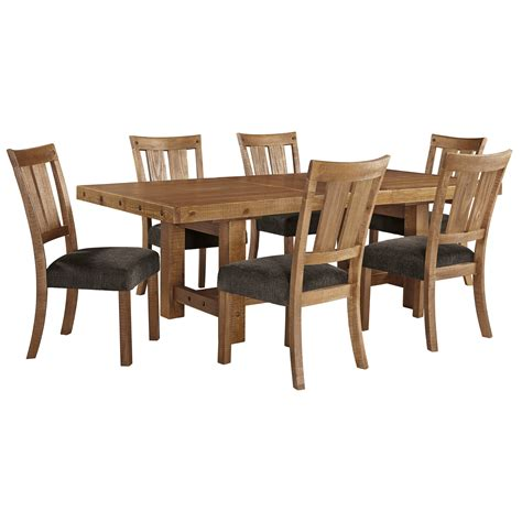 dining table set with leaf 7 table chair set with leaf by signature design by