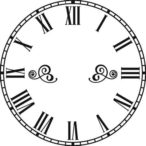 clock template corel sticker horloge avec chiffres romains pas cher stickers