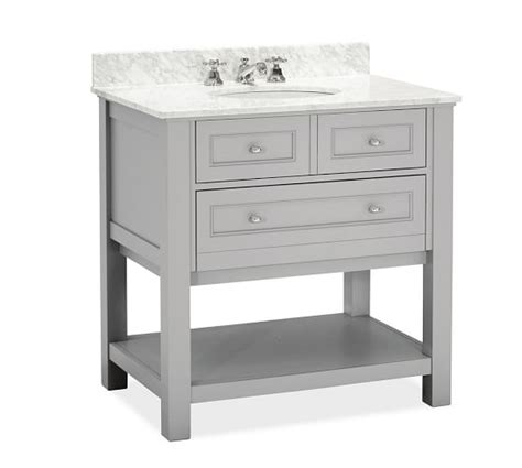 pottery barn sink console classic single sink console gray pottery barn