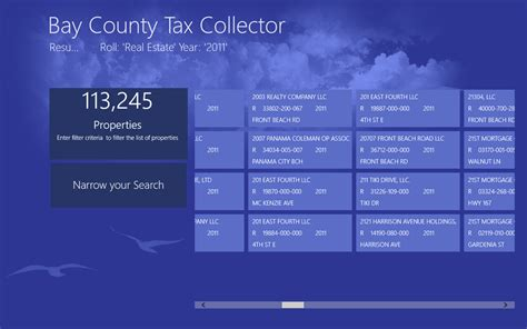 Allen County Property Tax Records Windows 8 App Bay County Tax Collector Makes It Easy To Find Property Tax Records
