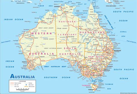 australia travel map map of the world map