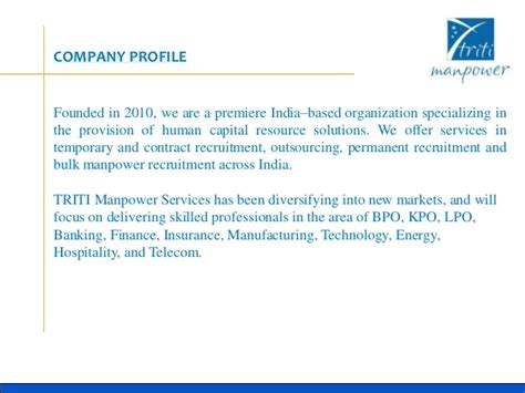 Introduction Letter Manpower Supply Company Triti Manpower
