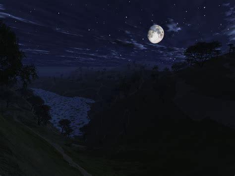 in the night of vue test moonlit night by digitalman on