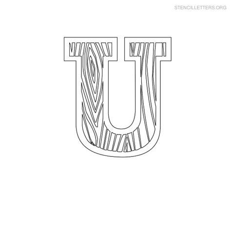 stencil letters u printable free u stencils stencil