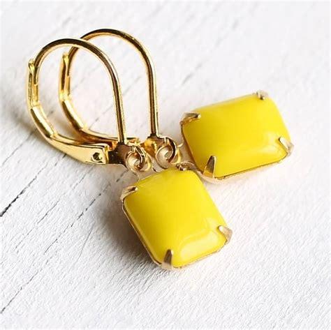 neon yellow earrings by silk purse sow s ear